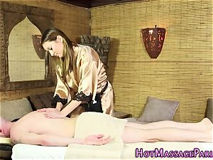super hot masseur finger-tickled