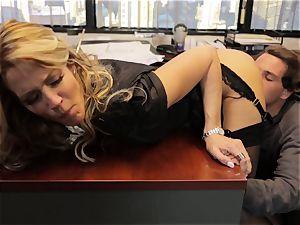 Jessica Drake pummels her lover via her desk
