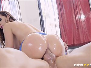 insane well-lubed up Nikki Benz thrashed in her caboose