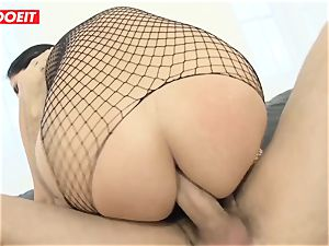 LETSDOEIT - black-haired Minge Gets anal drilled rock-hard By Mike