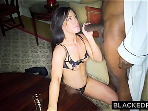 BLACKEDRAW wife luvs the World's fattest big black cock in motel apartment