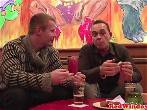 buxom dutch escort gets pussynailed