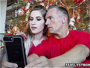 Niki Snow gets a banging for Christmas from her parent