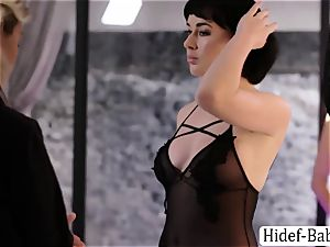 two finest Anissa Kate and Olive Glass models enjoys gobbling their cootchies