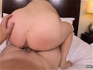 large all-natural globes cougar gets hardcore romping