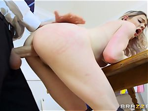 jaw-dropping schoolgirl Carly Rae gets torn up by a fat dicked professor
