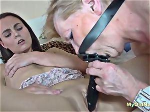 granny luvs three way hardcore drill