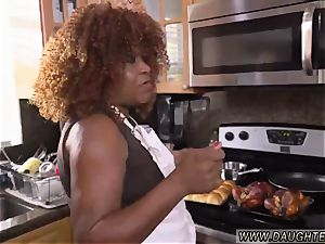 ally s daughter-in-law helps spraying ebony chum s daughters are the greatest kind of duddy s