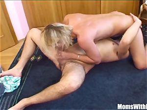 blondie Stepmom spreading For Her crazy Stepson