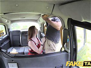 fake cab Olive skin redhead in lingerie