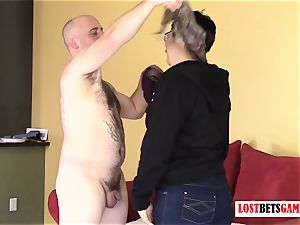 smoothly-shaven man Gets destroyed and unclothe Rock Paper Scissors