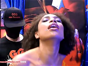 spectacular black Latina Luna Corazon groans in enjoyment