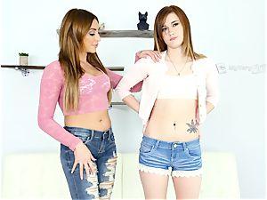Alaina Dawson has her very first lezzie practice with Christiana Cinn
