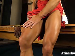 super-naughty fit women uses faux-cock on huge pleasure button