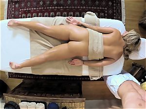 super-steamy blondie Madelyn Monroe stuffed in her humid vagina