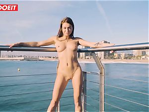 Russian babe Gets nailed gonzo By The Seaside