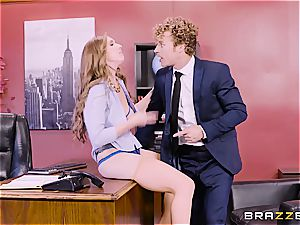 buxom office 3some