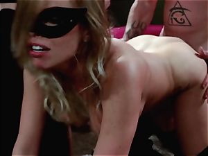 studs watch on as Britney Amber and Nikki Daniels gang fuck