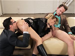 Supergirl Pt two Jessica Drake gets a plumper threesome