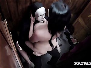 curvaceous Emma Leigh fucked by a priest