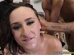 Ashley Adams Gets Her Face savagely boned by BBCs