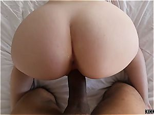 youthfull Karlie asks her stepbrother to teach her fuck-fest