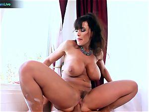 Lisa Ann luvs sitting into Toni Ribas ample meatpipe