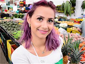 CARNE DEL MERCADO - huge-boobed Latina teen gets torn up rock-hard