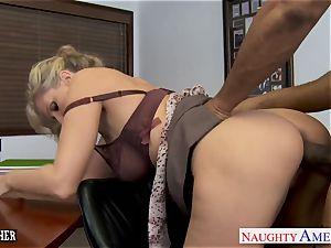 blondie professor Julia Ann fuckin' a big black cock