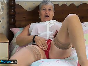 EuropeMaturE grandmother enticing Solo Compilation