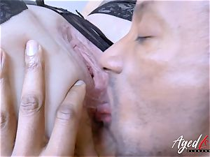 AgedLovE Lacey Starr huge-titted light-haired Mature hard-core