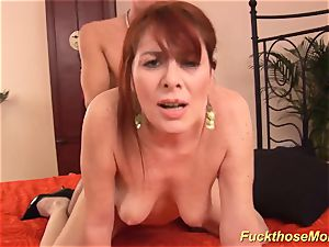 ginger-haired stepmom need a heavy manhood