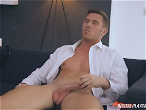 cool honies Taylor Sands and Stella Cox are thirsty for man sausage