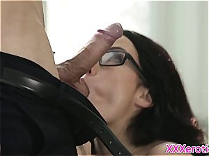 youthfull secretary punished by her manager