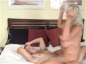 granny Getting Laid While Her husband observes