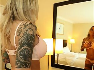 huge-titted Payton puts his stiffy between her large hooters