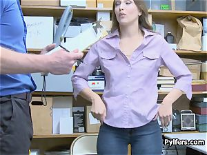 arse butt-plug stealing brunette blasted and torn up