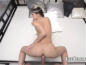 Gina Gerson - smallish dame playing with a enormous Dick(POV)