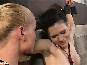 Kathia Nobili tormenting a kinky college lady