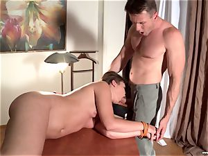 lush college woman in the shape gets assfucked by the teacher