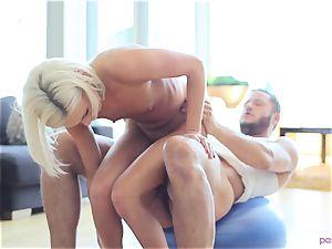 Kacey Jordan stops yoga to penetrate her dude