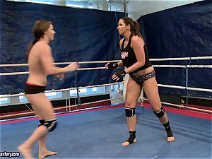 Eliska Cross and Lisa sparkle have a super-fucking-hot cat fight
