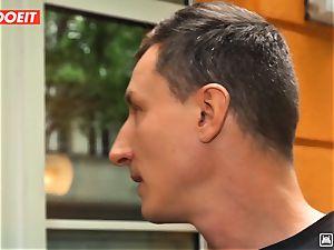 LETSDOEIT - insane Traveler pulverizes fortunate German In Hostel