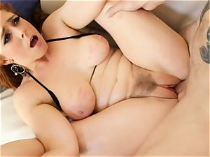 sandy-haired Penny Pax plumbs with her furry vag