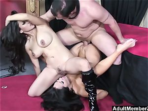 fortunate man three way with chinese dommes