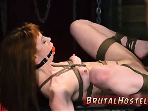bondage strapped gagged jaw-dropping youthful dolls, Alexa Nova and Kendall forest, take a train-ride