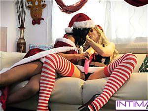 individual lezzies - Alix and Jenna stiff girly-girl penetrate