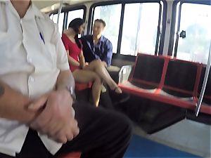 Karmen Bella screws her guy on a crowded bus