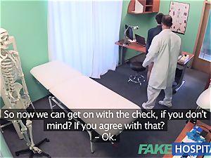 FakeHospital fantastic Aussie tourist with ginormous bra-stuffers