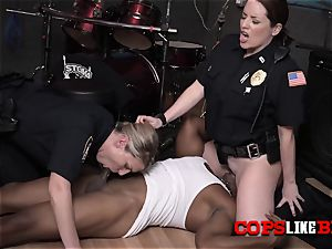 mummy cops make rapper pummel their muffs deep and stiff in different poses